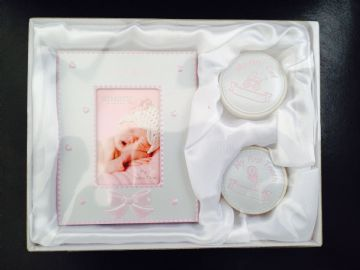 It's A GIRL Photo Frame & First Tooth/Curl Set